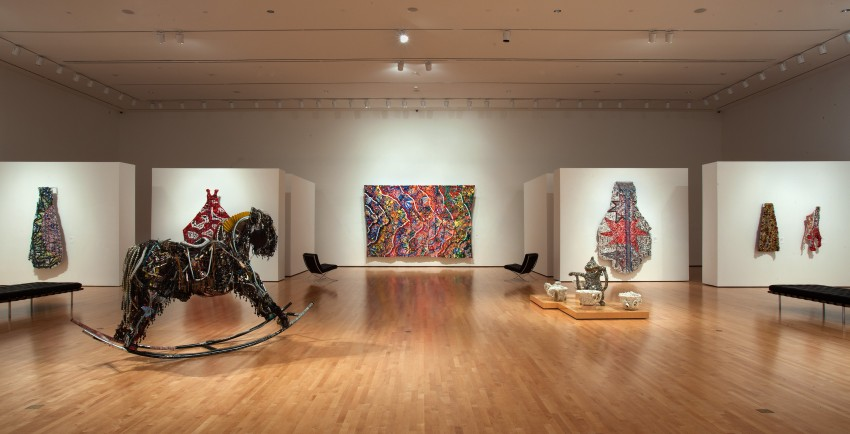 from Rhyme and Reason: The Art of Shawne Major at Paul and Lulu Hilliard University Art Museum. Photo by Mike Smith
